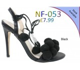 NF 053 Ladies Mid-Heel Pom-pom sandals Was £9.99  Now £2.50 each + VAT