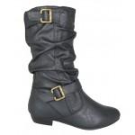 3146 flat mid calf black boot £9.99 each