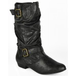 3146 flat mid calf black boot Was £9.99 each Sale Price £8.99