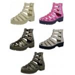 D4532 Gladiator  platform sandal boot