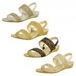 D4557 wholesale low wedge sandals