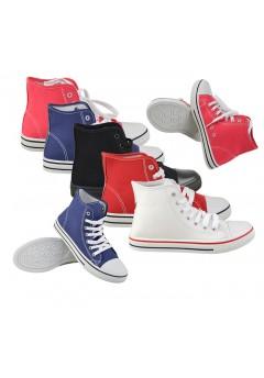 D4648 Hi top lace up trainers shoes