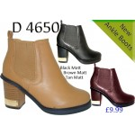 4650 mid heeled chelsea boots £9.99 each