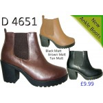 4651 block heeled chelsea boots £9.99 each