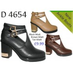 4654 mid heeled cut out chelsea boots £9.99 each