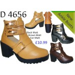 4656 mid heeled cut out chelsea boots £10.99 each