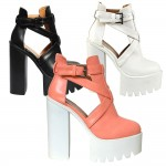 D4660 Block heeled platform high heels