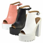 D4661 Block heeled platform high heels *SALE* Now £9.99