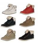 D4672 Lace up fur lined high top trainers £3.99 each