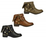 D4678 Flat heel gold zip Chelsea ankle boot £5.99 each + VAT
