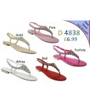 D 4838 Ladies Embellished Flat sandals £6.99 now £4.99 each + VAT