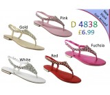 D 4838 Ladies Embellished Flat sandals £6.99 now £4.99 each + VAT