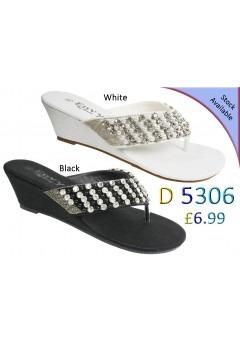 D 5306 Ladies Embellished Flat sandals was £6.99 now £4.99 each + VAT