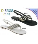 D 5308 Ladies Embellished Flat sandals Was £5.99 now £4.99 each + VAT