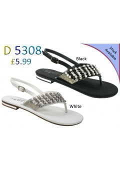 D 5308 Ladies Embellished Flat sandals Was £5.99 now £3.99 each + VAT