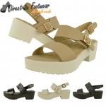 Ally mid heeled sling-back gladiator sandal