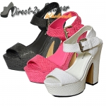 Amy chunky block heeled snake skin designs heels £9.99 each