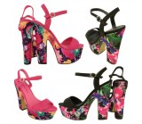 Anita Mid-heel sling back platform shoes £8.99 each