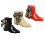 D4123 Ankle boot wellington leopard ribbon *SALE* was £5.99 Now £3.99 +VAT
