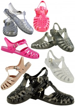 D4533 Flat jelly sandals shoes Ladies Pack B UK3-6 Was £2.50 Now £1.00 each + vat