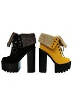 D 4780 Chunky Platform Heeled Cleated Lace Up Boots £9.99 each