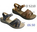 D 5210 Ladies Comfort Sandals £6.50 + VAT