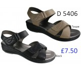 D 5406 Ladies Comfort Sandals £7.50 + VAT