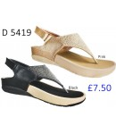 D 5419 Ladies Comfort Sandals With Diamantes £7.50 + VAT