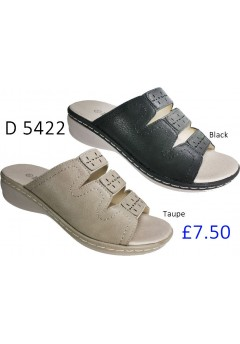 D 5422 Ladies Comfort Shinny Mule Sandals  £7.50 + VAT