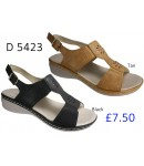 D 5423 Ladies Comfort Shinny Mule Sandals  £7.50 + VAT