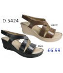 D 5424 Ladies Comfort Shinny Mule Sandals  £6.99 + VAT