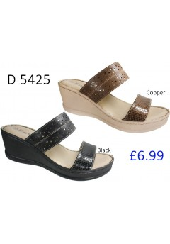 D 5425 Ladies Comfort Wedge Sandals  £6.99 + VAT