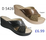 D 5426 Ladies Stud Details Comfort Wedge Sandals  £6.99 + VAT