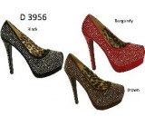 D 3956 Ladies Embellished High Heel Pumps NOW £4.99 each + VAT