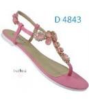 D 4843 Ladies Embellished  Fuchsia Flat sandals £6.99 now £4.99 each + VAT