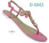 D 4843 Ladies Embellished  Fuchsia Flat sandals £6.99 now £4.99 each + VAT