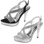 D4542 Ladies sling back diamnate sandals wholesale £13.99 each
