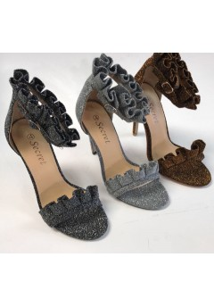 NF 755 Glitter Frill high Heel sandals £12.50 each + VAT