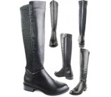 X153-S12 flat knee length black Stretch back boot  £9.99 each +VAT (available in 3 ratios)