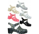 D4534 mid heeled jelly sandal  Pack A Was £3.50 Now £1.00 each +VAT
