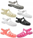 D4794 jelly sandals shoes with adjustable bar Ladies UK3-8 Was £2.99 Now £1.99 each + VAT