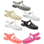 D4794 jelly sandals shoes with adjustable bar Kids UK3-6 no vat £2.99 each