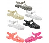 D4794 jelly sandals shoes with adjustable bar Kids UK3-6 no vat Was £2.99 Now £1.99 each