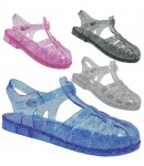 D4826 jelly sandals shoes with adjustable bar, Kids UK10-2 no vat Was £1.99 Now £1.50 each