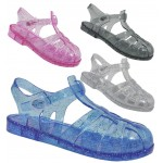 D4826 jelly sandals shoes with adjustable bar, Kids UK10-2 no vat £1.99 each