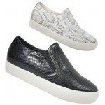 D4923 Snake Skin slip on trainer £4.99 + VAT