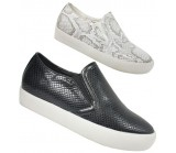D4923 Snake Skin slip on trainer £4.99 Now £2.50 + VAT