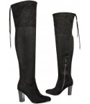 5118 Thigh length boot,  Hi Heel with lace tie top, Stretch leg, £13.99 each + VAT