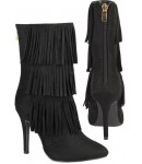 5160 Black Suede ankle boot with tassel feature leg, full heel zip. £13.50 each +VAT