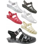 D4781 Wedge jelly sandals shoes with adjustable bar Ladies UK 3-8 £2.99 each VAT